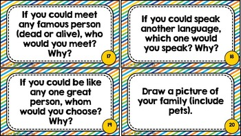 Get to Know Me Gallery Walk (Task Cards)