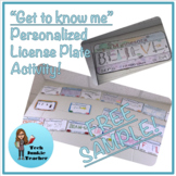 Get to Know Me License Plate Activity