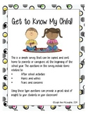 Get to Know My Child!