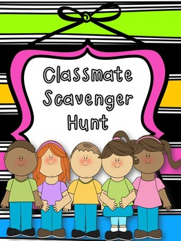Classmate Scavenger Hunt-Get to Know You