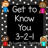 Get to Know You 3-2-1 Graphic Organizer
