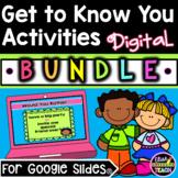 Get to Know You Activities Digital BUNDLE