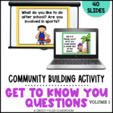 Get to Know You Activity Digital   Back to School Ice Breakers Volume 1