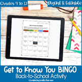 Get to Know You BINGO for High School Back to School Activ
