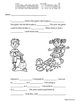Get to Know You & Back to School Fill in the Blank Stories (Gr. 2-3)