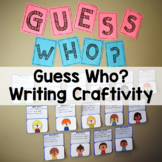 Guess Who? Back to School Writing Bulletin Board Idea