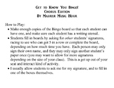 Get to Know You Bingo Elementary Music Edition