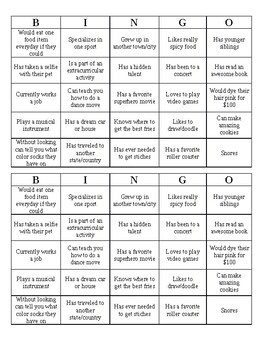 Get to Know You Bingo (Filled)