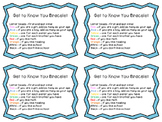 Get to Know You Bracelet Activity