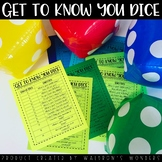Get to Know You Dice Game!