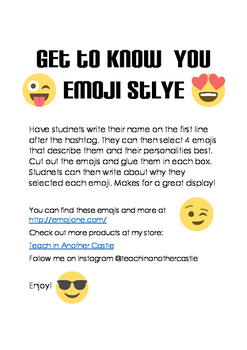 Get to Know You  - Emoji Style