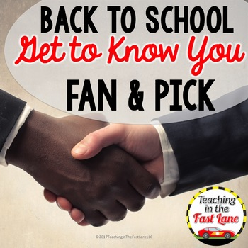 Get to Know You Fan & Pick Cooperative Learning Activity