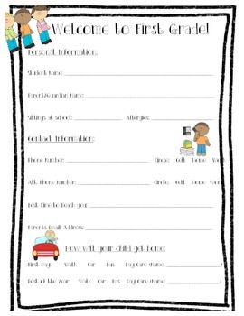 Get to Know You: First Grade
