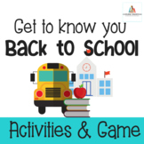 Get to Know You BUNDLE-First Week Activities