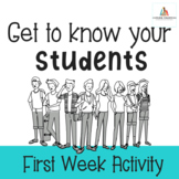 Get to Know Your Students-Back to School Activity