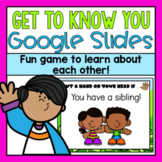 Get to Know You Game Google Slides (Distance Learning)