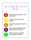 Get to Know You Game and Graph- Skittles Edition!