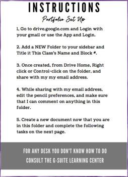 Get to Know You Intro to Google Drive Portfolio!