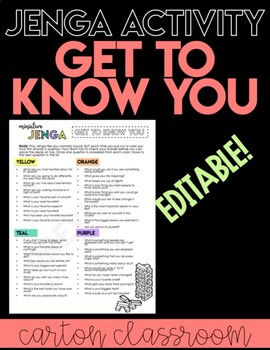 Get to Know You Jenga Activity