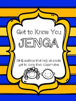 Get to Know You Jenga Questions