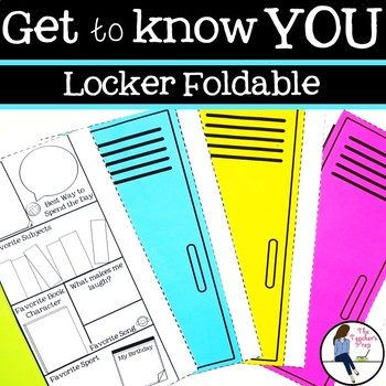All About Me Locker Foldable for Back to School