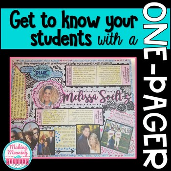 Get to Know You - One Pager for Back to School