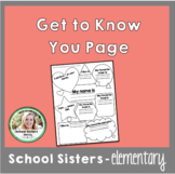 Get to Know You & Parent Info Pages
