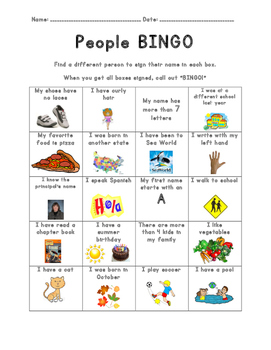 Get to Know You - People BINGO