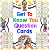 Get to Know You Question Cards Back to School Ice Breaker