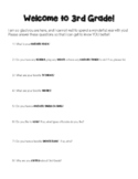 Get to Know You Questions for 3rd Grade