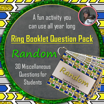 "Get to Know You Ring Booklet ""Random"" Questions Activity"