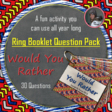 "Get to Know You Ring Booklet ""Would You Rather"" Questions"
