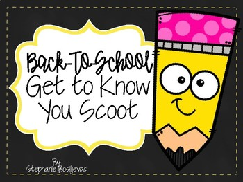 Get to Know You Scoot Game (Back-To-School)