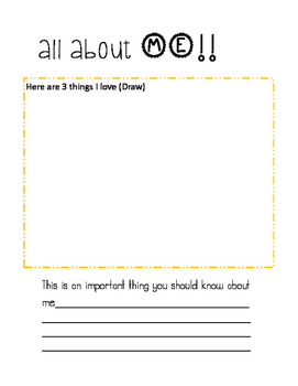 Get to Know You Sheet