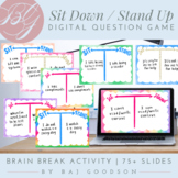 Get-to-Know-You Sit Down/Stand Up | Rainbow Back-to-School Digital Question Game