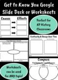 Get to Know You Slide Deck: Google Slide or Printable Worksheet