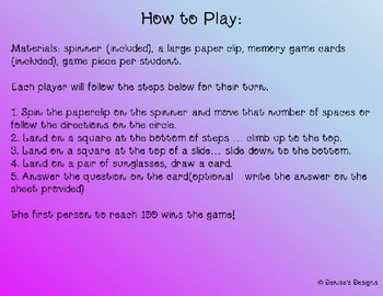 Get to Know You Slides and Steps