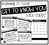 Get to Know You Task Cards (Beginning of Year Activity!)