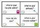 Get to Know You Task Cards - Scoot Activity