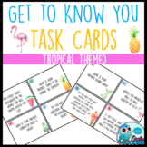 Get to Know You Task Cards - Tropical Themed