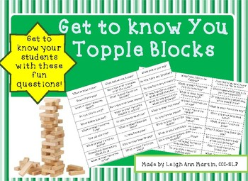 Get to Know You Topple Blocks