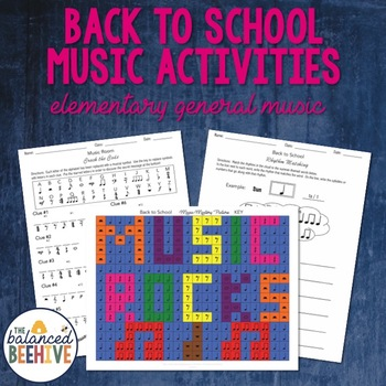 Back to School Music Activities