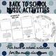 Back to School Music Activities