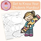 Get to Know You Worksheet for Students