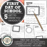 Get to Know You Worksheets for the Start of the Year
