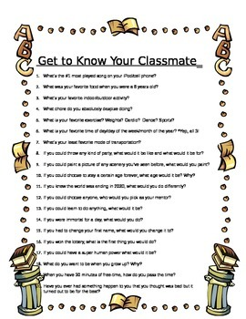 Get to Know Your Classmate