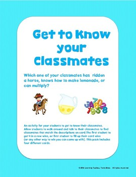 Get to Know Your Classmates
