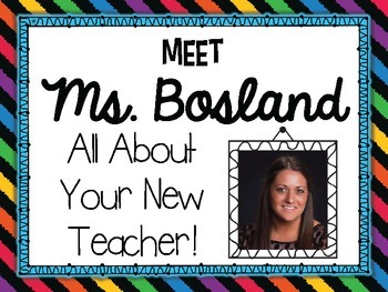 Get to Know Your New Teacher! {Editable} PowerPoint to Mee