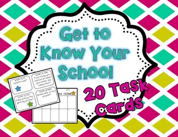 Get to Know Your School Task Cards