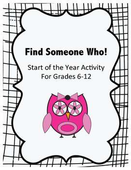 Get to Know Your Students: Find Someone Who
